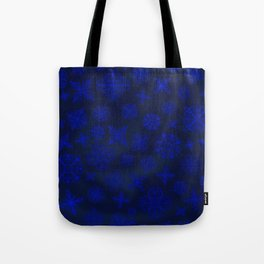 Shower of Sapphire Snowflakes Tote Bag