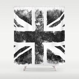 Black UK flag Shower Curtain
