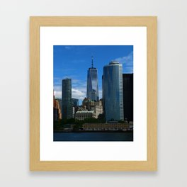 Manhattan View From Hudson River Framed Art Print