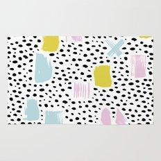 Pastel spots and dots Rug