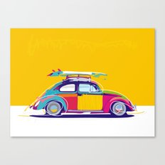 Beetle Pop Yellow Canvas Print