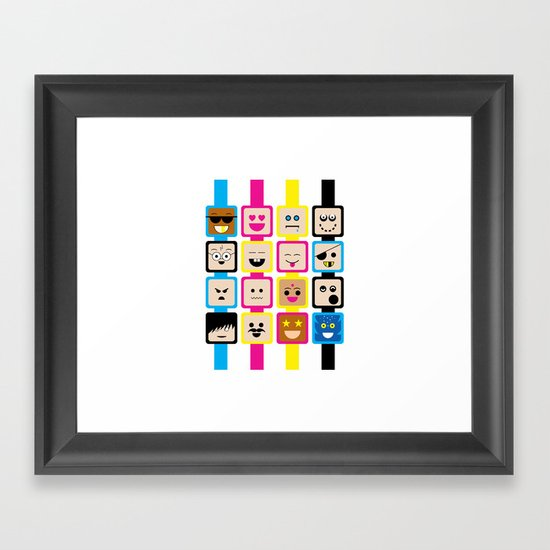 People of all Colors Framed Art Print