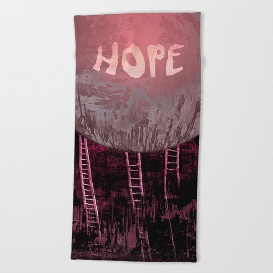 Hope, Climbing / Wonderful Planet 13-11-16 Beach Towel