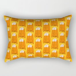 Orange Winter Jacket Rectangular Pillow