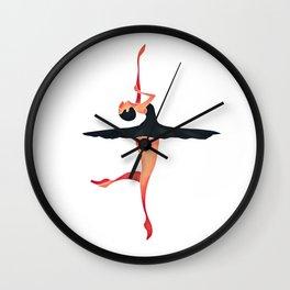 Black swan Ballerina Wall Clock