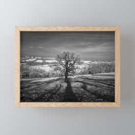 Lone tree over the East Somerset Railway Framed Mini Art Print
