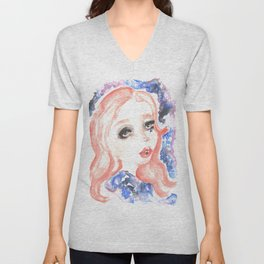 THE GALAXY IN YOUR MIND. Unisex V-Neck