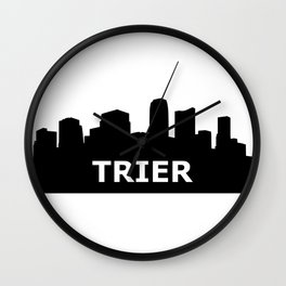 Trier Skyline Wall Clock