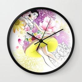 Floral Odyssey Wall Clock