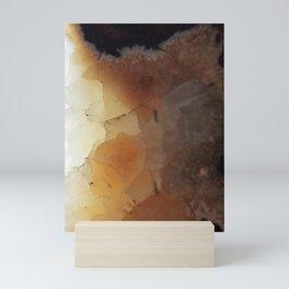 Close up abstract of a sedimentary rock Mini Art Print