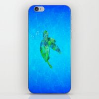 sea turtle iPhone & iPod Skins featuring Sea Turtle  by MacDonald Creative Studios