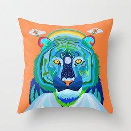 Save Me Striped Tiger Throw Pillow