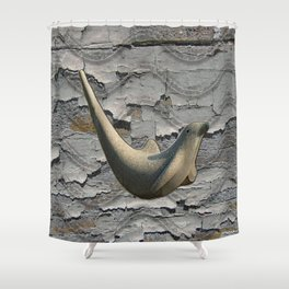 Cracked Seal Shower Curtain