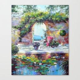 Cozy courtyard Canvas Print