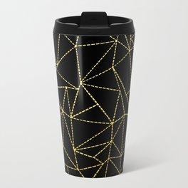 Ab Dotted Gold Metal Travel Mug