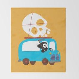 Death on wheels Throw Blanket