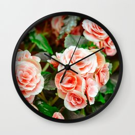 FLOWERS - FLORA - PETALS - BLOSSOMS - BEAUTIFUL Wall Clock