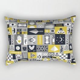 Esoteric Charm Midnight Rectangular Pillow