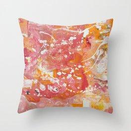 Florida Sunset (Bright Orange & Hot Pink) [Crystal Hoffman] Throw Pillow