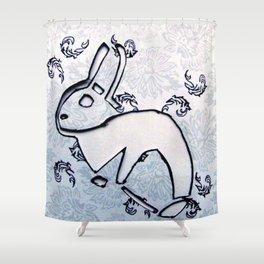 Royal Rabbit Shower Curtain