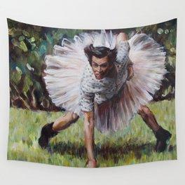 Ace Ventura - Blue 42! - Jim Carey in a Tutu Wall Tapestry