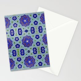 Samarkand Kaleidoscope in Blue Stationery Cards