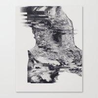 glitch Canvas Prints featuring GLITCH by Pliska Dasha