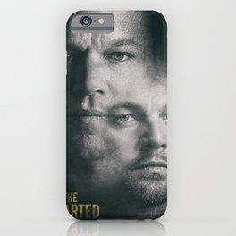 The Departed, Martin Scorsese movie poster, Leonardo DiCaprio, Matt Damon, american mafia film iPhone Case