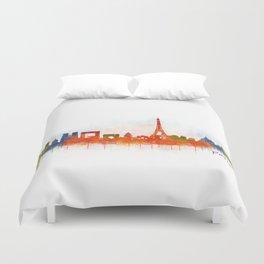Paris City Skyline Hq v3 Duvet Cover
