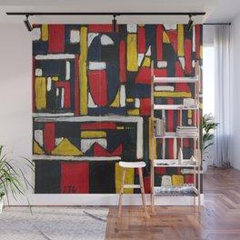 Joaquin Torres Garcia Geometric Structure Wall Mural