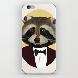 Sophisticated Raccoon iPhone Skin