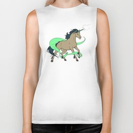 Magical Unicorn (Tan and Navy) Biker Tank