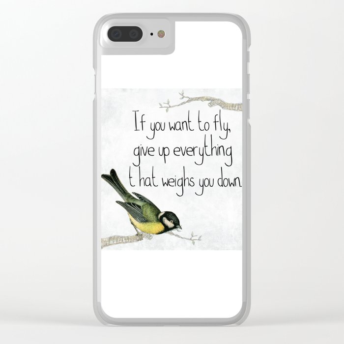 motivation Clear iPhone Case