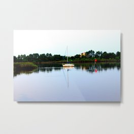 Sampit River Sailboat Metal Print