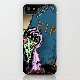 Rest In Pizza iPhone Case