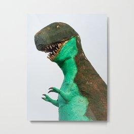 Roadside T-Rex Metal Print