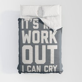 It's My Workout Funny Gym Quote Comforters