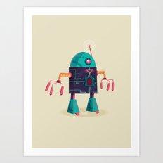 :::Mini Robot-Arpax::: Art Print