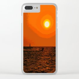 kitesurfing Clear iPhone Case