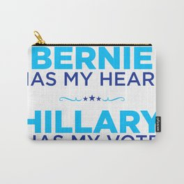 Bernie has my heart, Hillary has my vote Carry-All Pouch