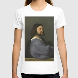Titian - Portrait of a man with a quilted sleeve T-shirt