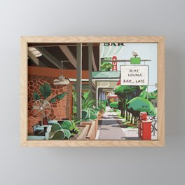 Cactus Cafe Framed Mini Art Print
