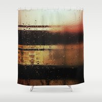 rain Shower Curtains featuring Rain by Viviana Gonzalez