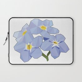Forget Me Nots Low Poly Laptop Sleeve