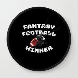 Fantasy Football Team Player USA College America Wall Clock