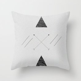 Arrows laced with Noise Throw Pillow