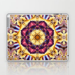 Summer feelings, fractal abstract kaleidoscope pattern Laptop & iPad Skin