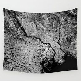 Tokyo map Wall Tapestry