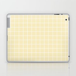 Lemon meringue - pink color - White Lines Grid Pattern Laptop & iPad Skin