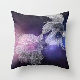 Piscean Yin Yang Throw Pillow